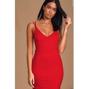 Saturday Night Thrive Red Backless Bodycon Dress